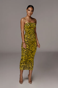 Yellow Marta Ruched Dress
