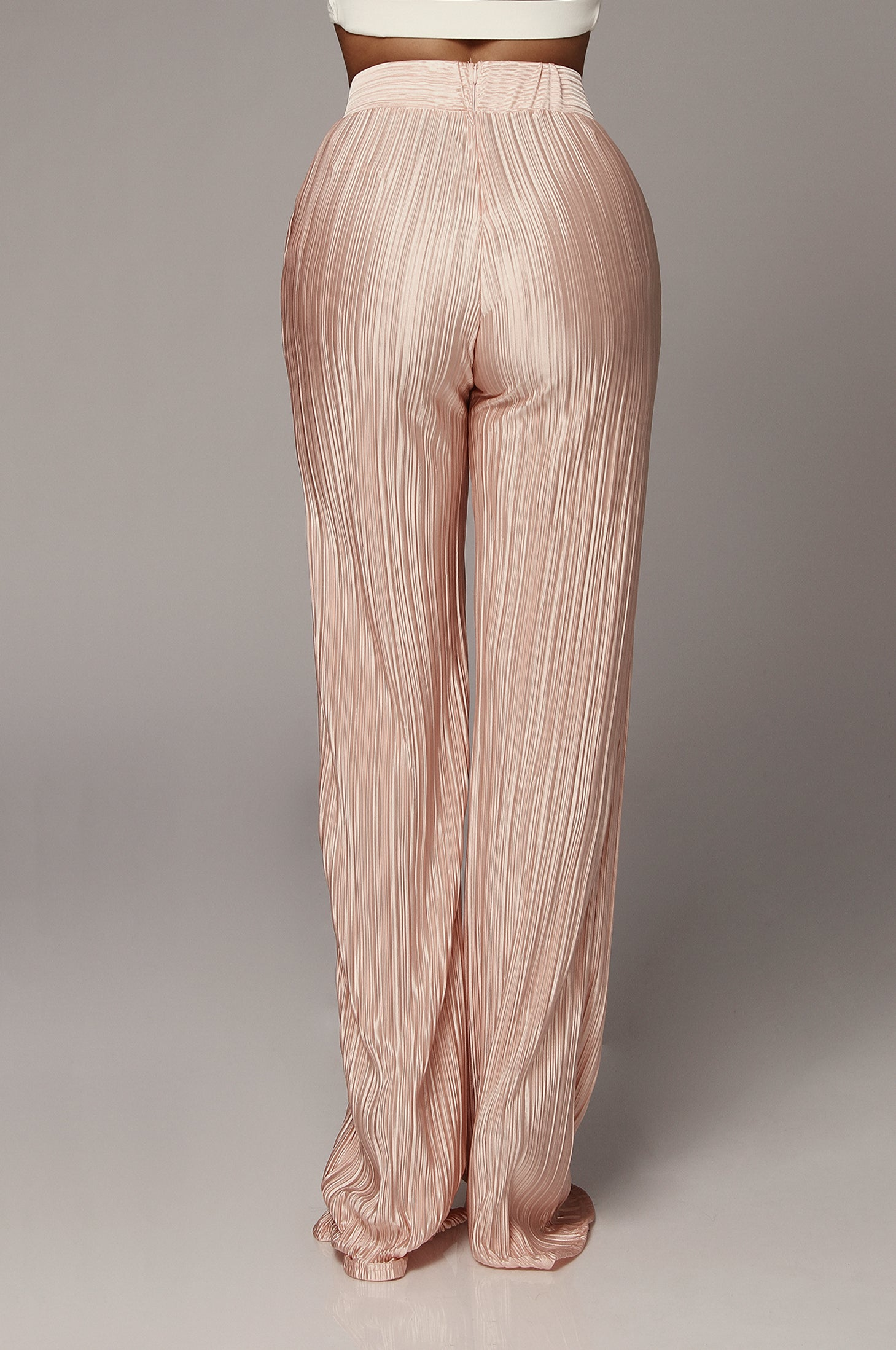 Baby Pink Champagne Draped Pants