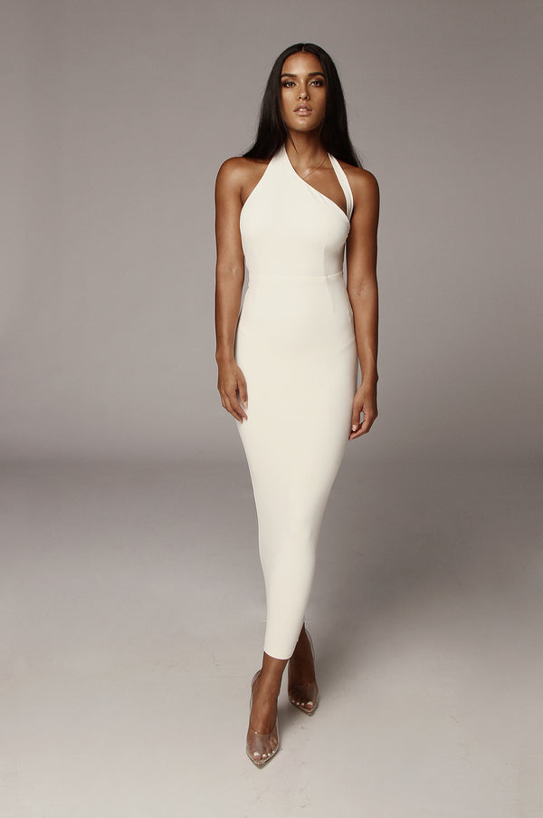Ivory Gianna Backless Dress