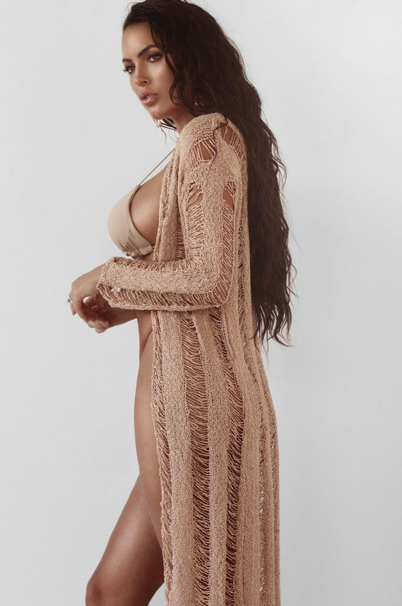 Blush Mykonos Crochet Duster