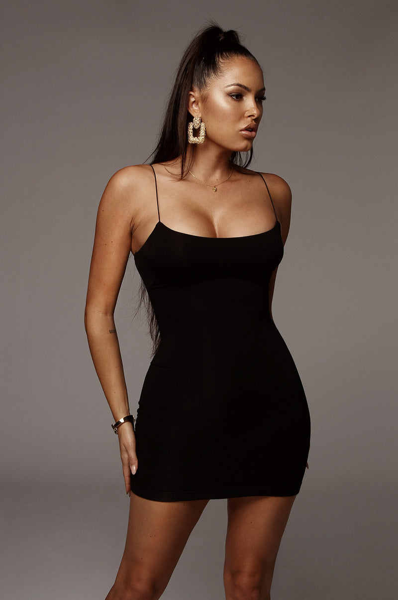 Black Amaria JLUXBASIX Mini Dress