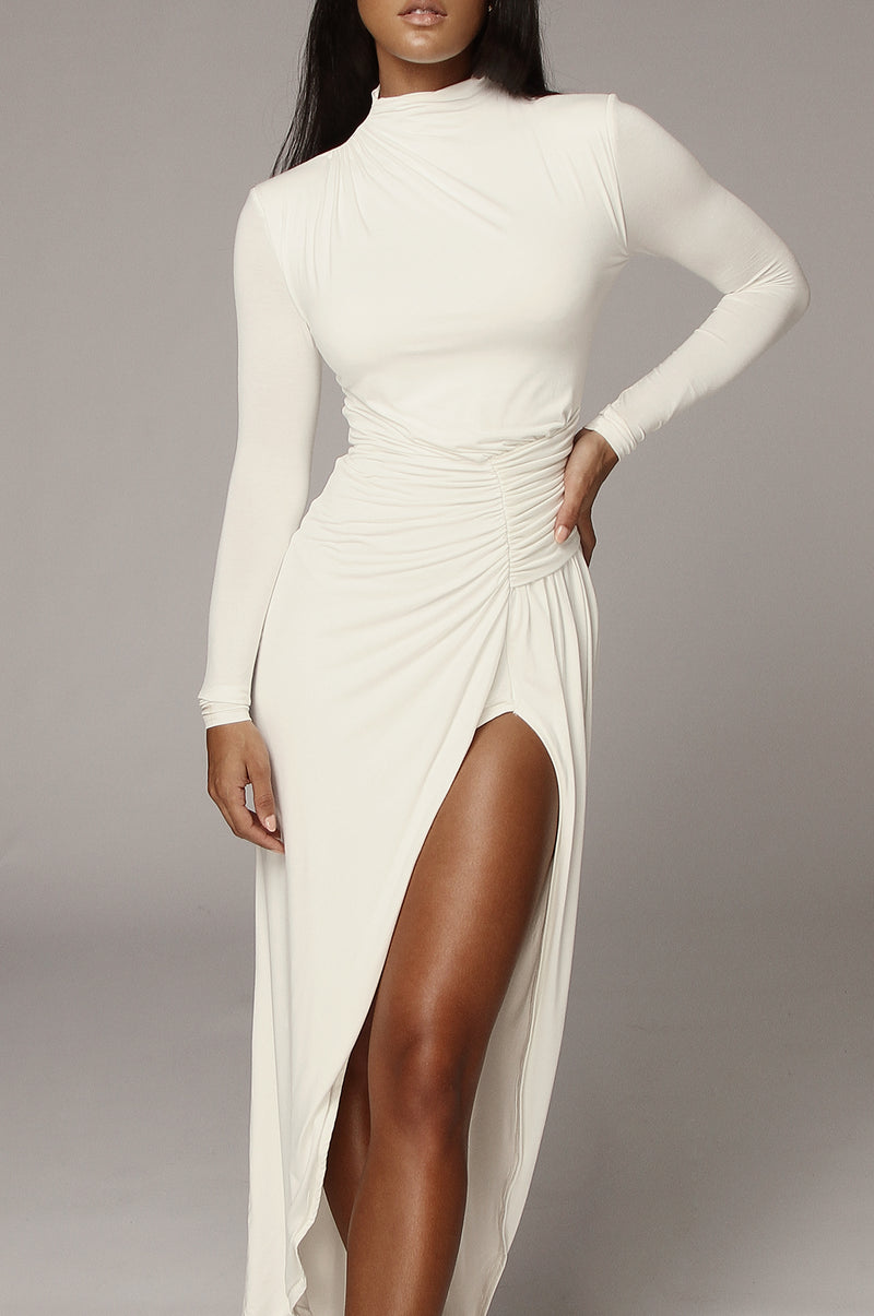 Ivory Martyna High Slit Dress