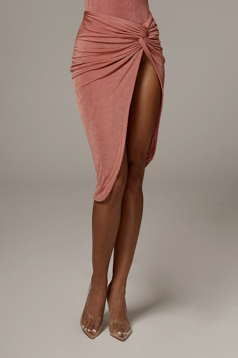 Mauve Namya Knotted Skirt