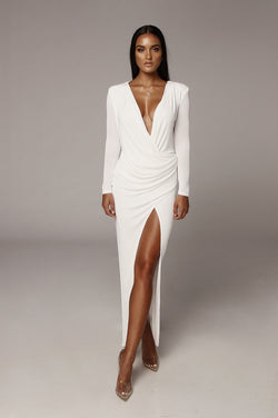 Ivory Klarita Front Drape Dress