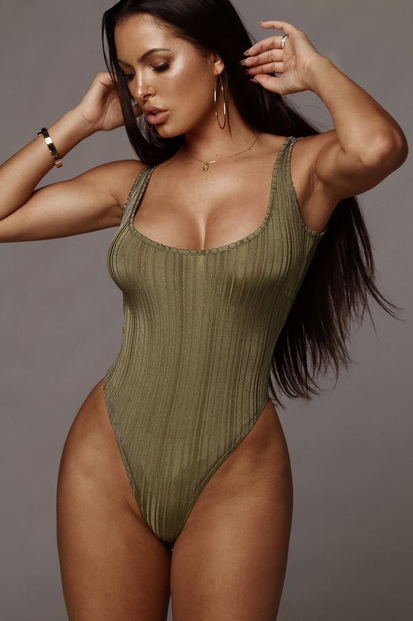 Olive Cole Textured Bodysuit