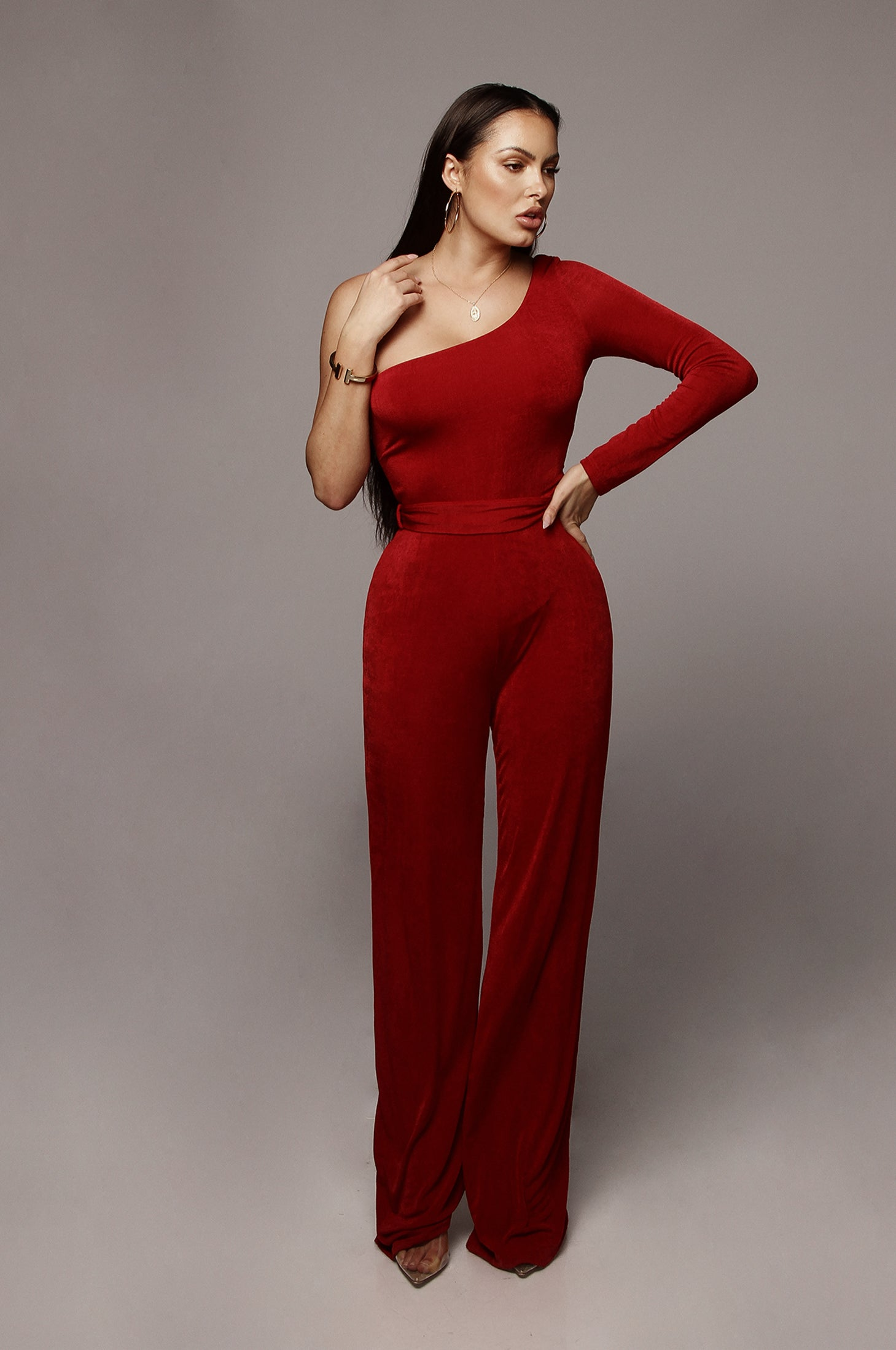 c5ed4cb296f7 Red Johanna Bare Shoulder Jumpsuit – JLUXLABEL