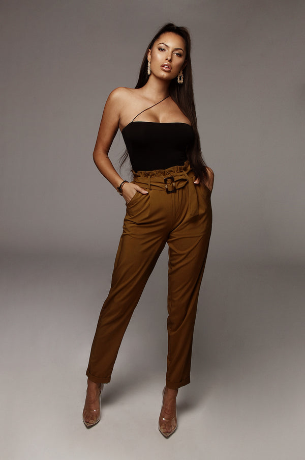 Olive Ej Belted Trousers