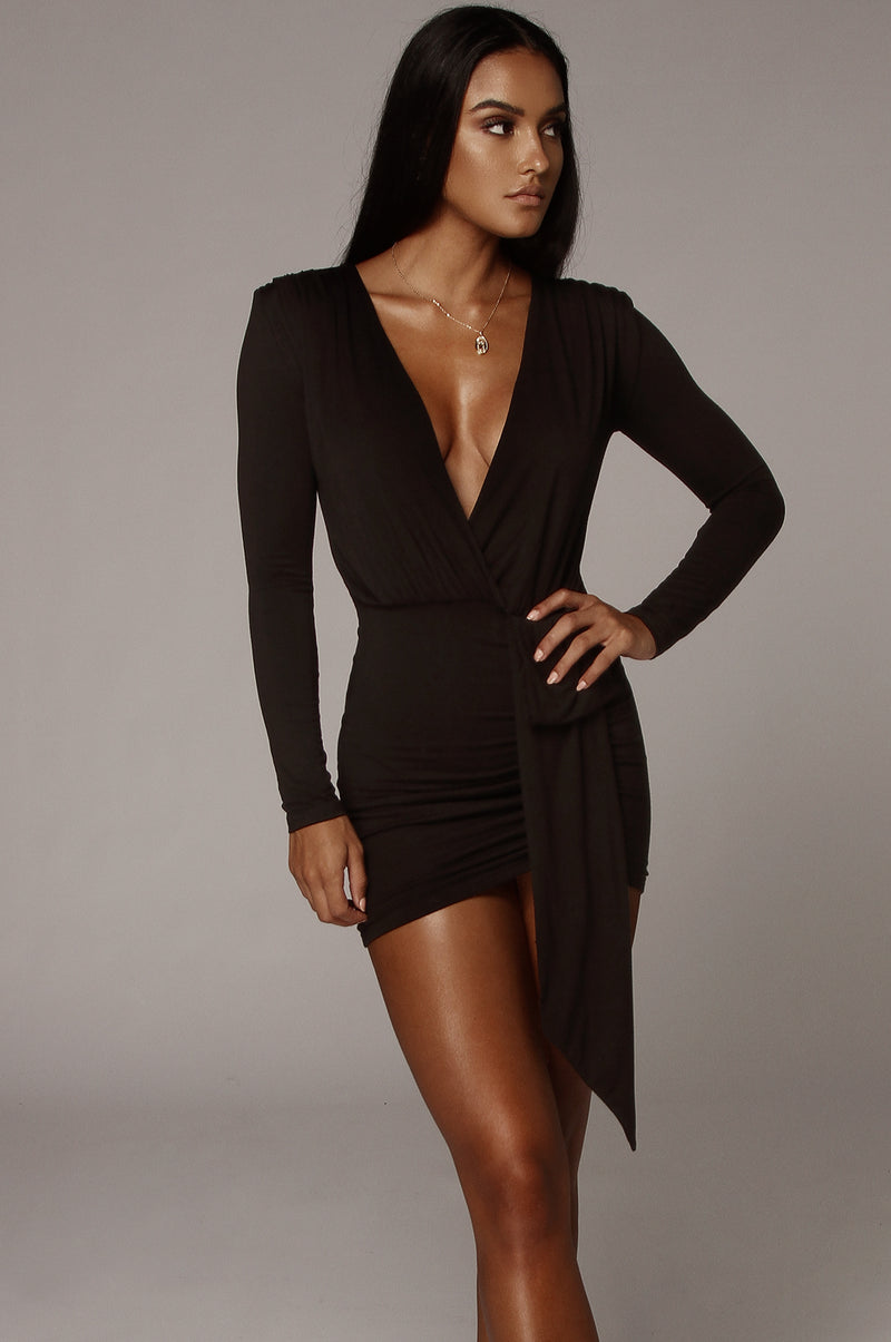 Black Quinn Overlay Dress