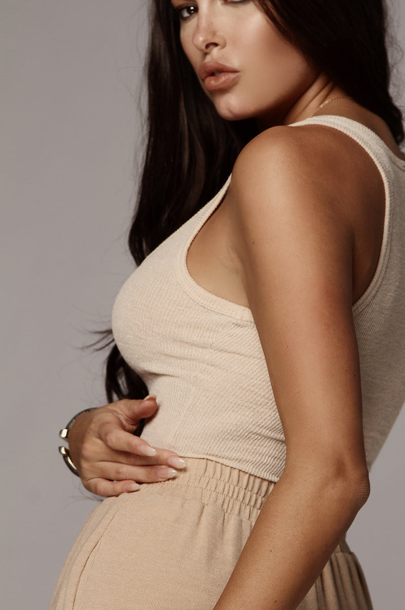 Tan Nila Ribbed Tank