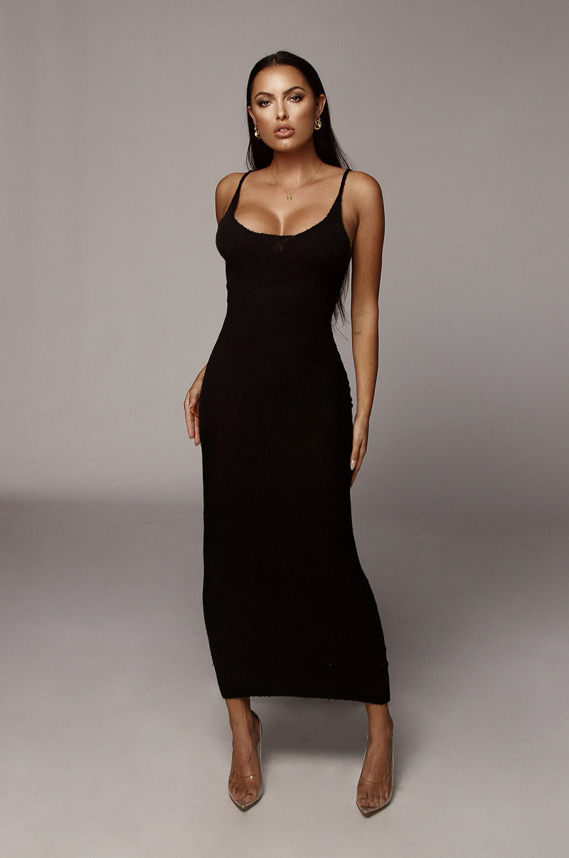Black Belinda Tank Sweater Dress