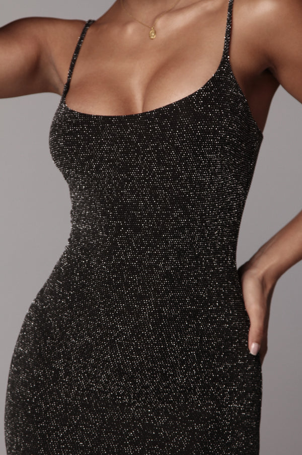 Black Nimah Sparkle Bodycon Dress