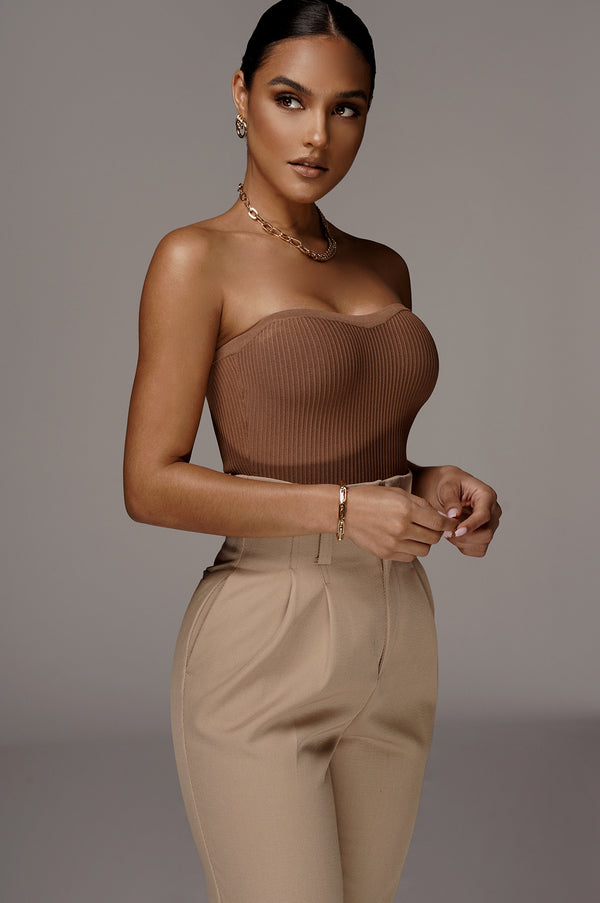 PECAN ALL THAT RIBBED TUBE TOP