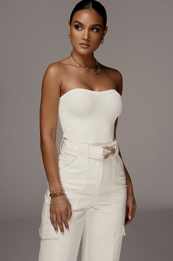WHITE ALL THAT RIBBED TUBE TOP