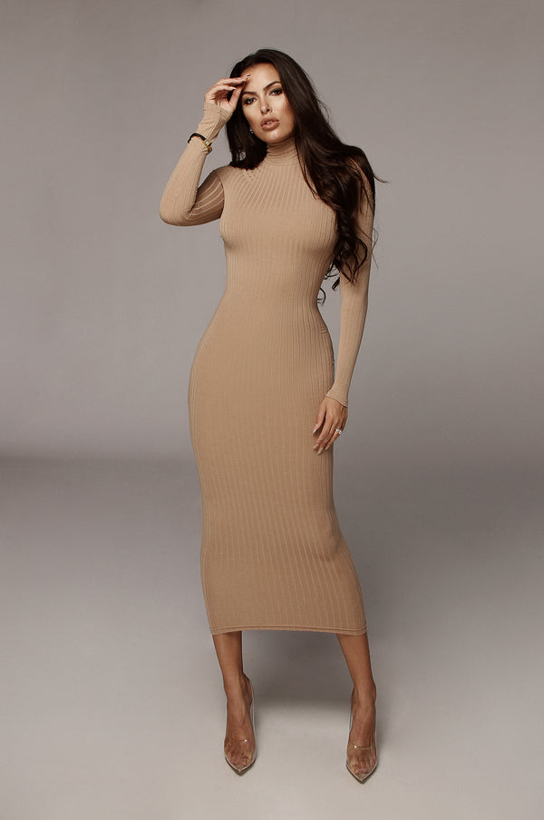 Sand Rosalie Ribbed Dress