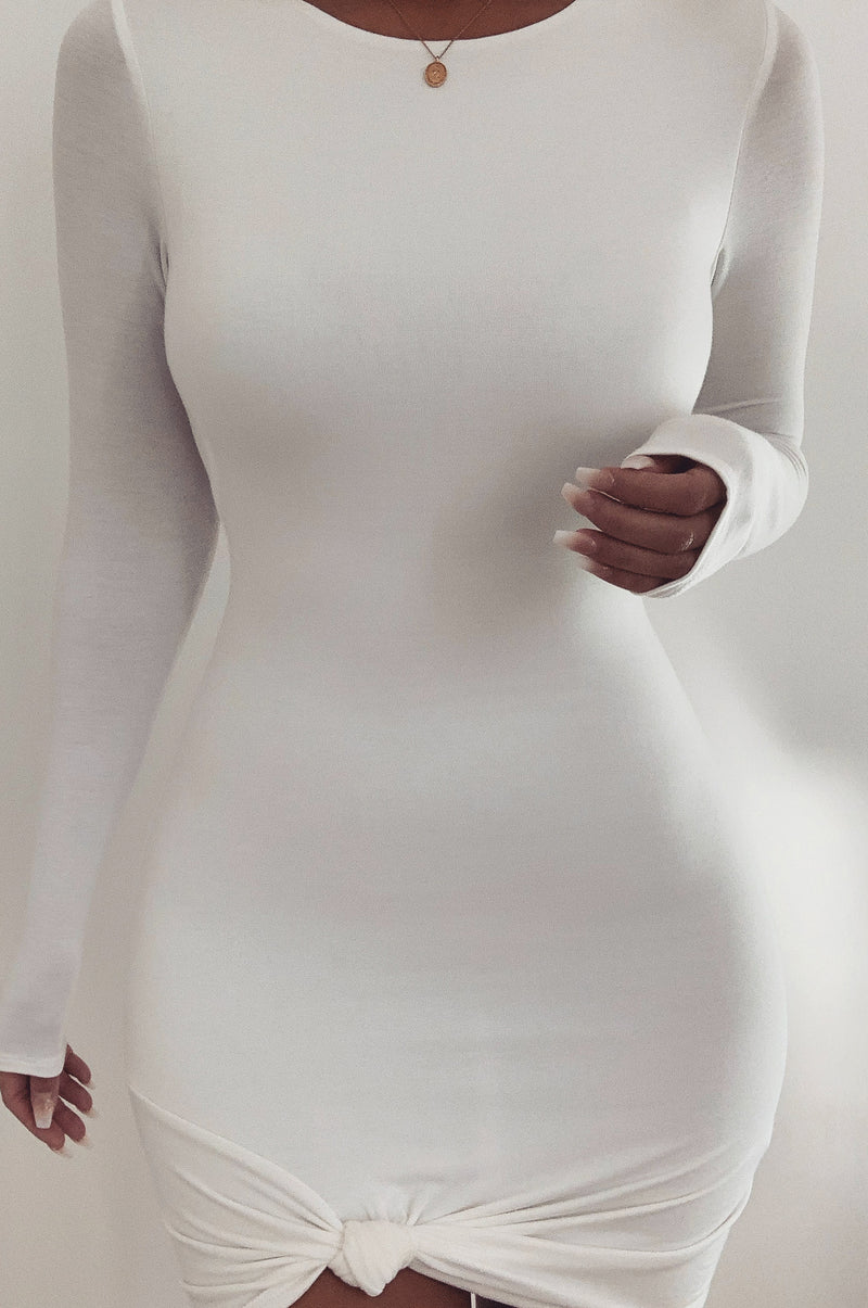 Ivory Tammy Knotted Dress