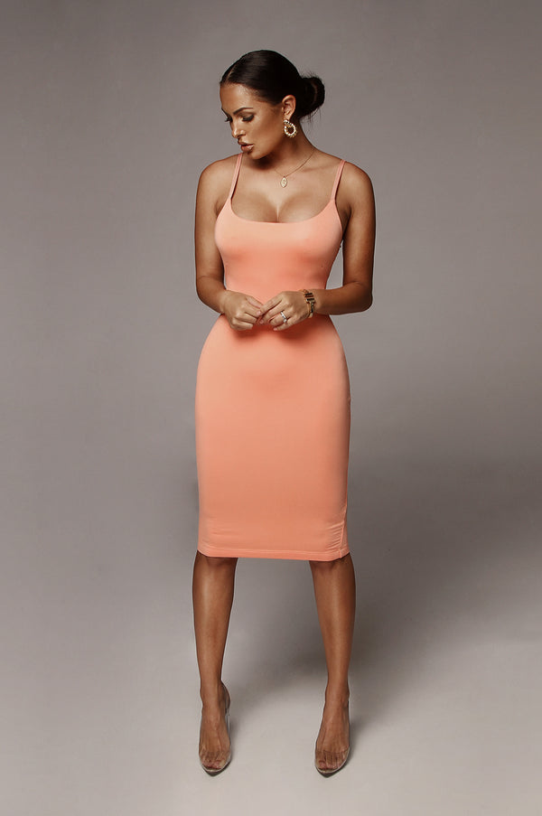 Coral New Jersey Double Lined Dress