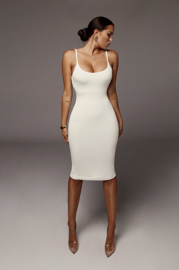 White JLUXBASIX New Jersey Double Lined Dress