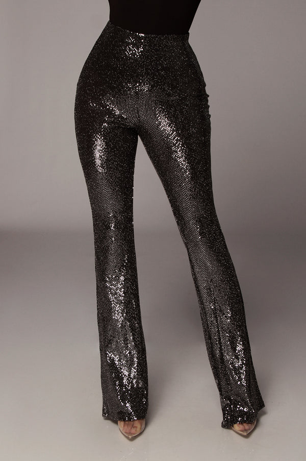 Black Sequin Disco Pants