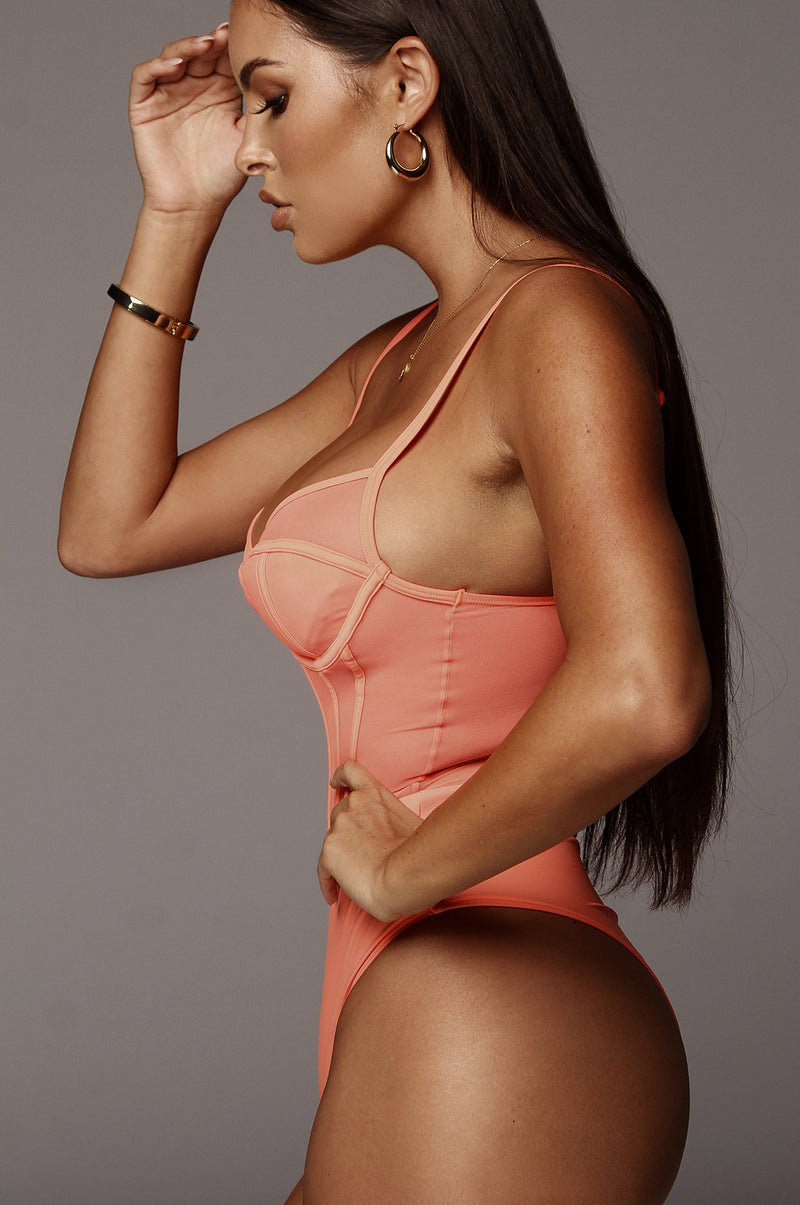 Neon Orange Tease Bodysuit