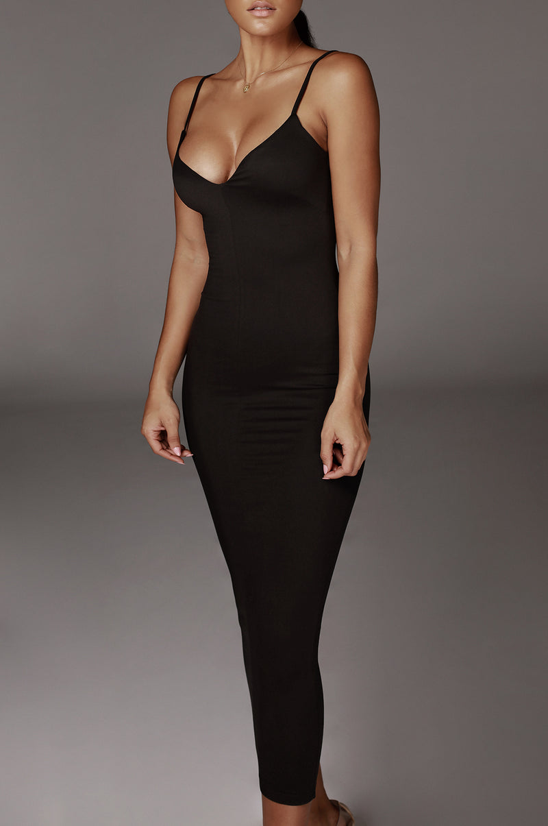 Black Hadley JLUXBASIX Soft Maxi Dress