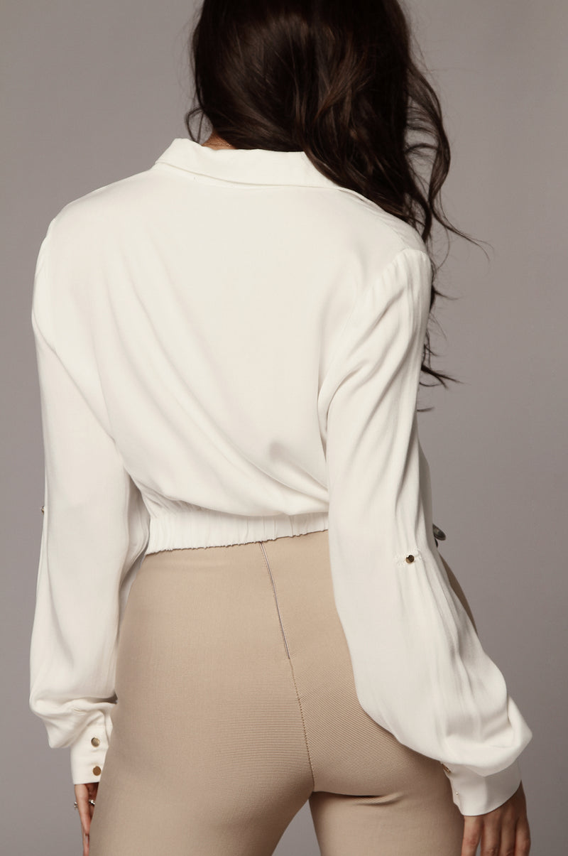 White Denim Denise Top
