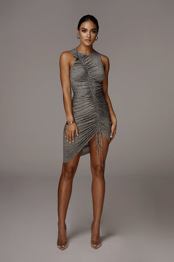 Grey Alegra Front Ruched Dress