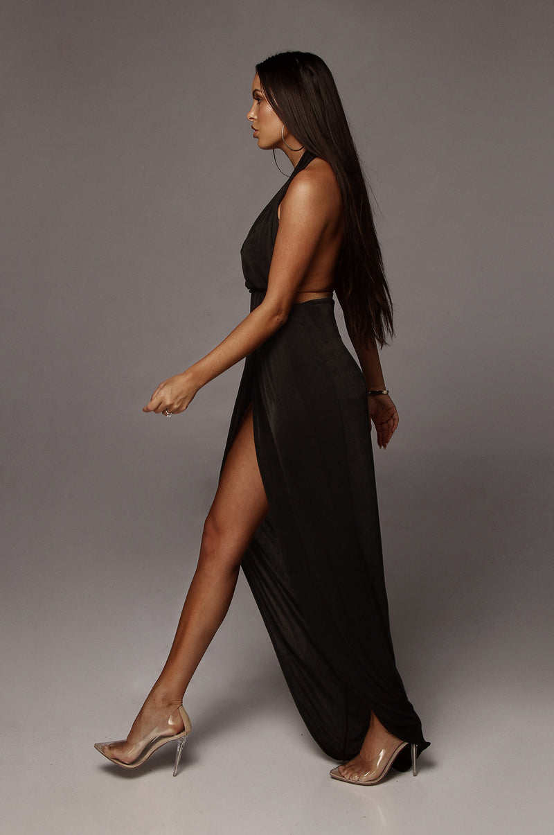 Black Mckenna Backless Dress