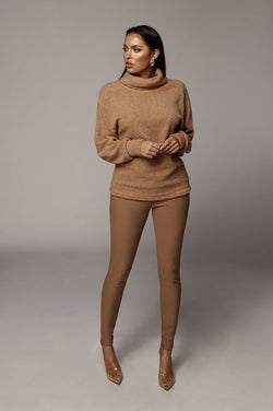 Mocha Kameron Turtleneck Sweater