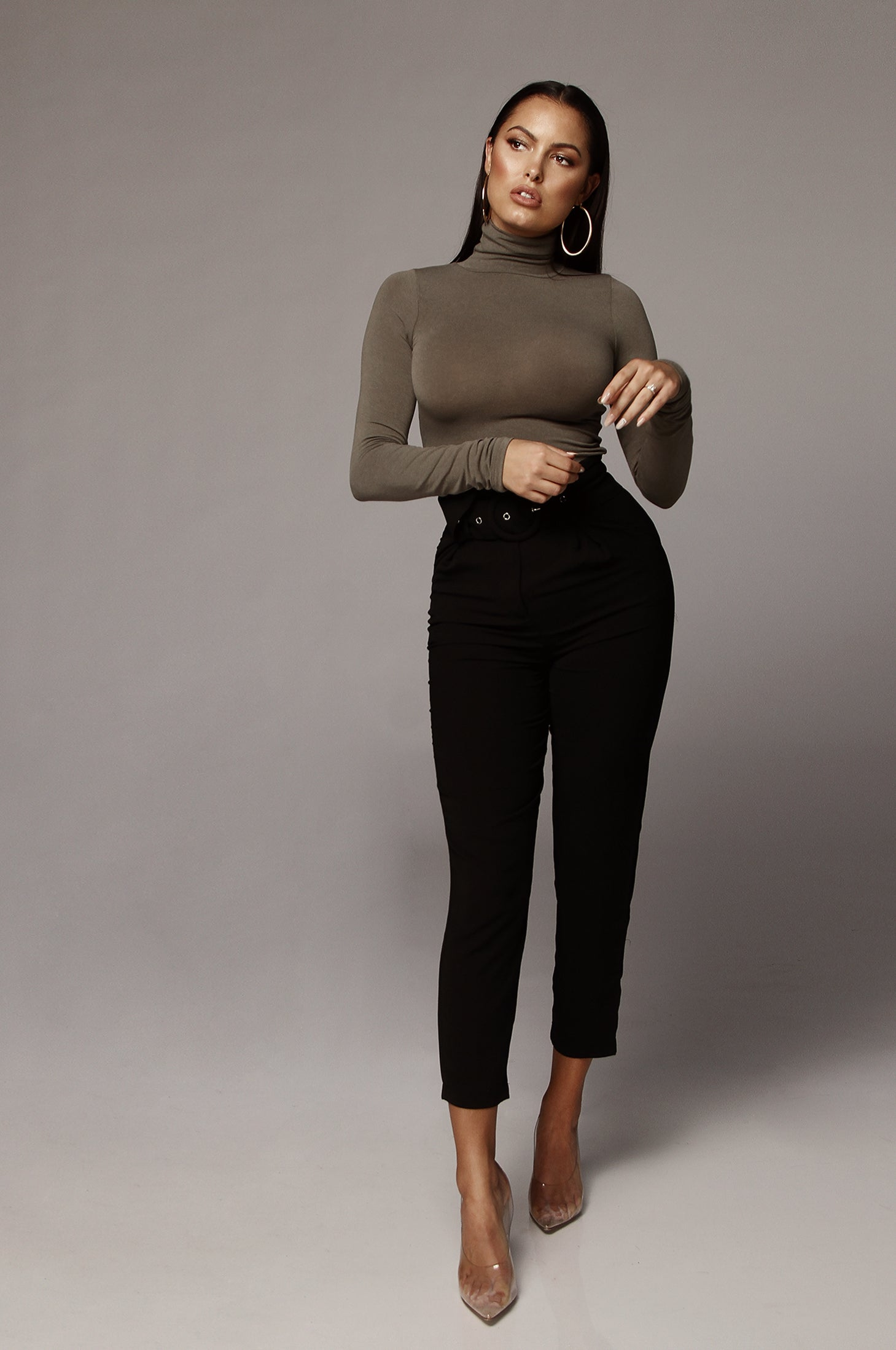 Sage Classic Turtle Neck Top