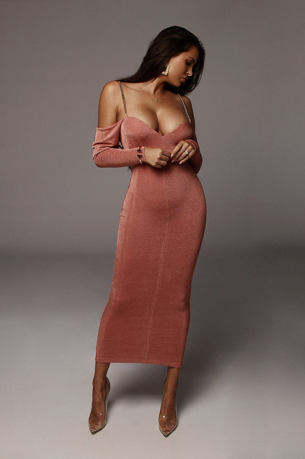 Mauve Averie Off The Shoulder Dress