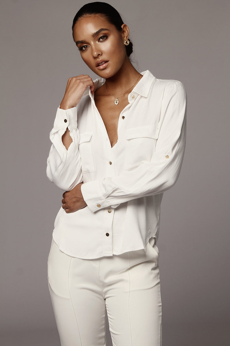 White Denim Dela Chambray Shirt