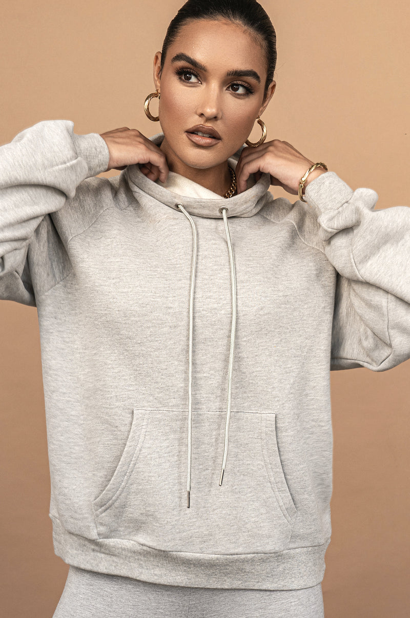GREY UNISEX TEARLY OVERSIZED PULLOVER