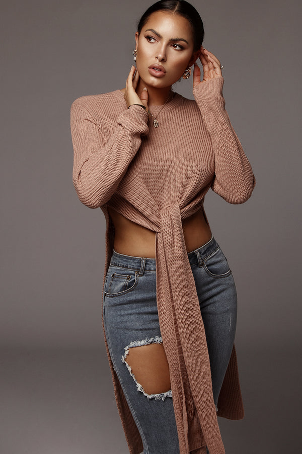 Mauve Palmer Open Panel Sweater