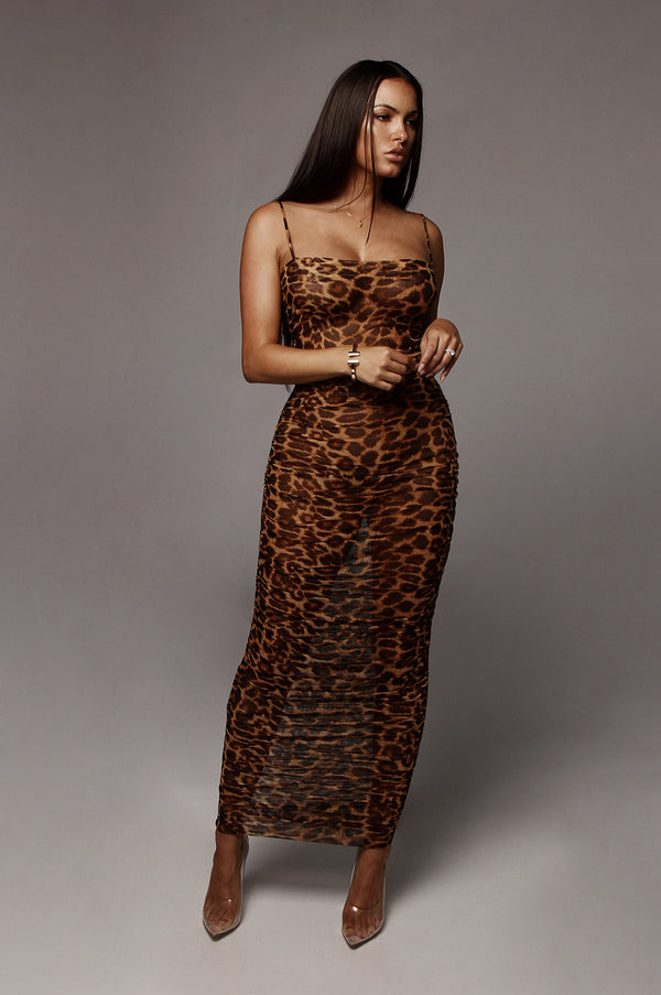 Leopard Mystique Sheer Coverup  Dress