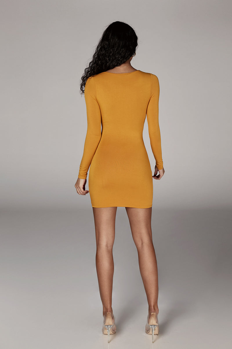 Mustard Tammy Knotted Dress