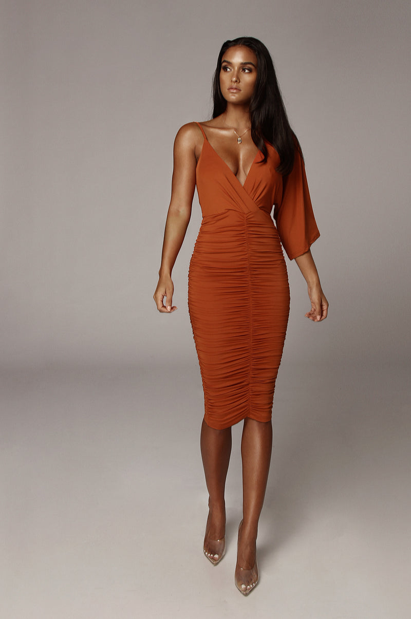 Rust So Elevated Dress