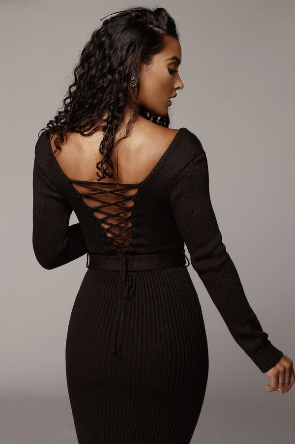 Black Claire Sweater Dress
