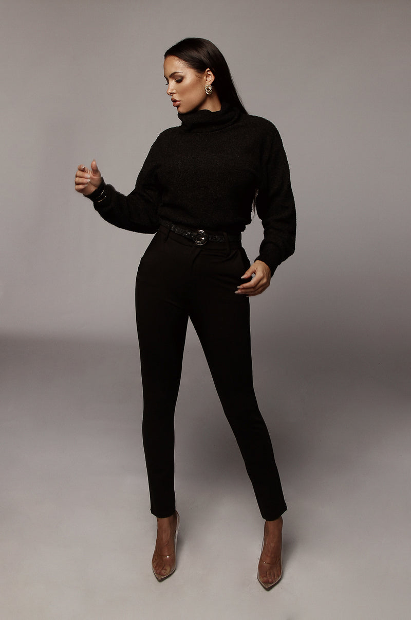 Black Kameron Turtleneck Sweater