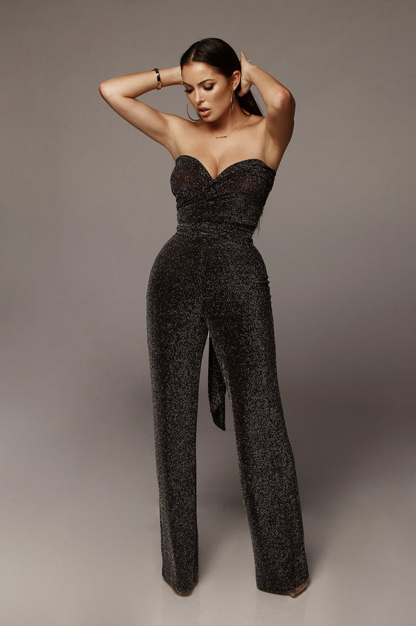 Black Sparkle J. Rae Multiway Jumpsuit