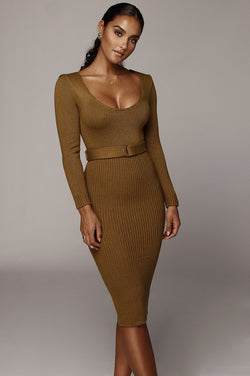 Moss Green Claire Sweater Dress