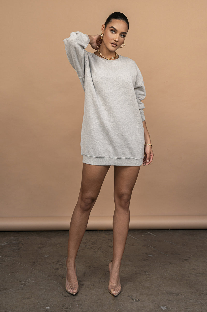 GREY UNISEX LEDA OVERSIZED SWEATSHIRT