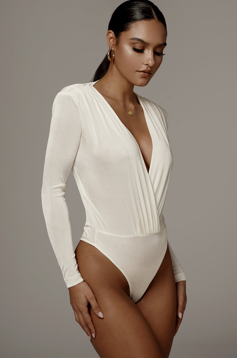 Ivory Power Plunging Bodysuit