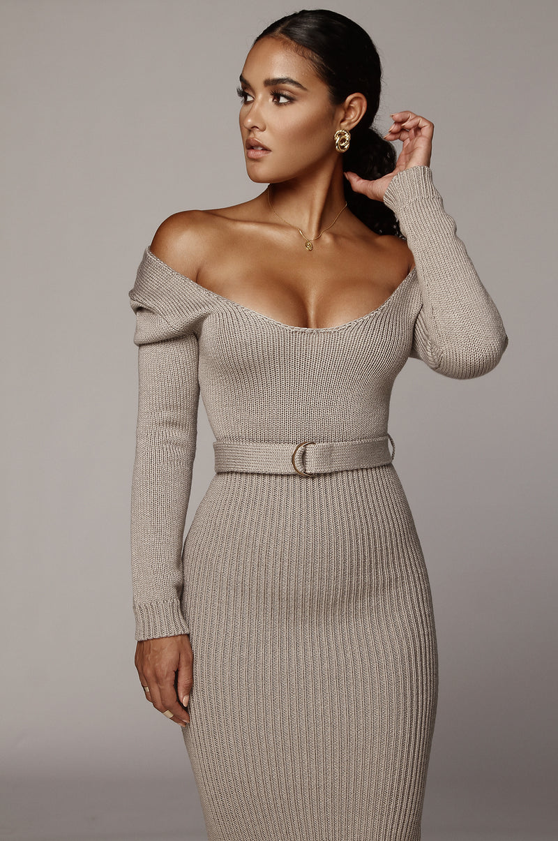 Grey Claire Sweater Dress
