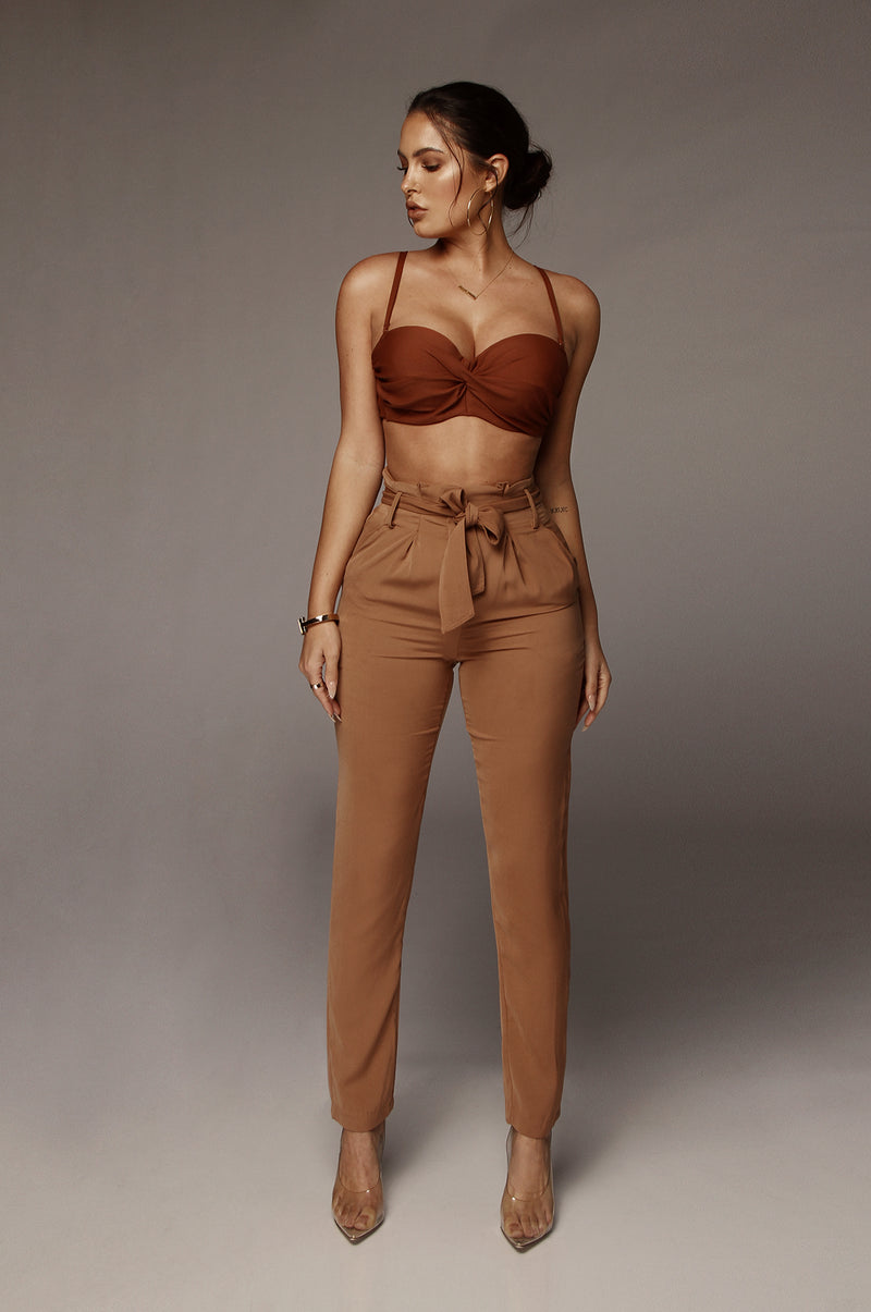 Walnut Giuliana Twisted Bralette