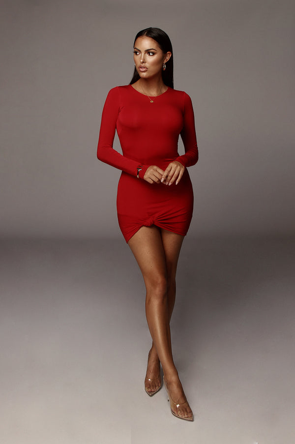 Red Tammy Knotted Dress