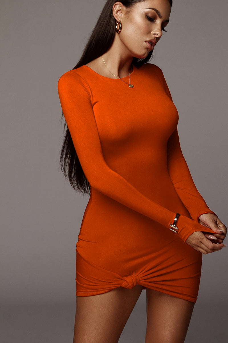 Orange Tammy Knotted Dress