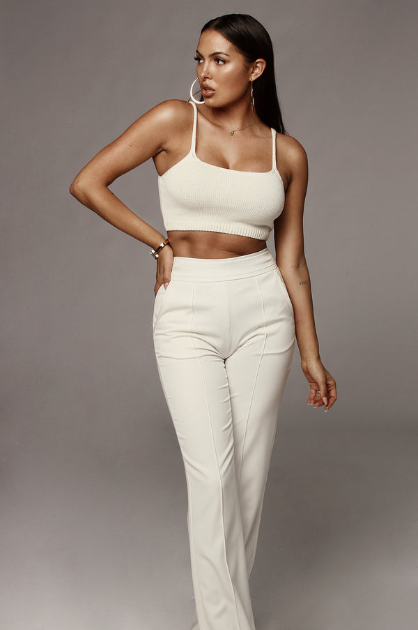 Ivory Anaya Knit Crop Top