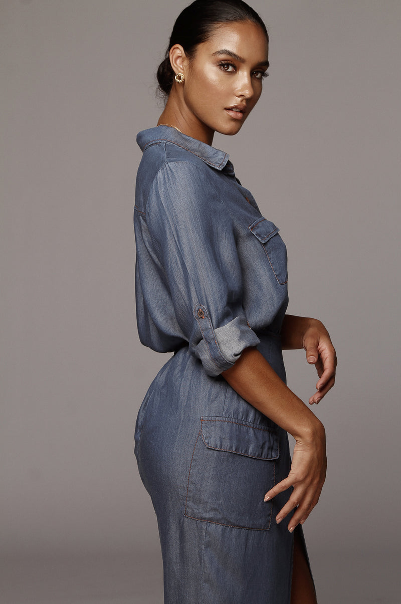 Dark Denim Dela Chambray Shirt