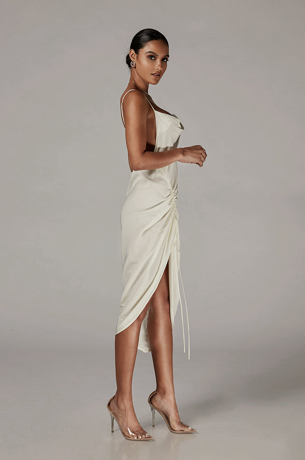 Ivory Ania Satin Slip Dress
