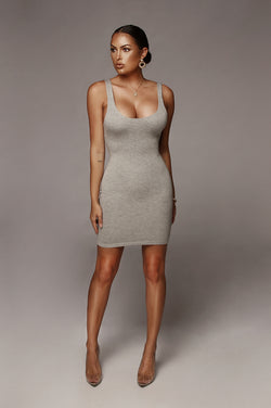 Grey Lina JLUXBASIX Mini Dress